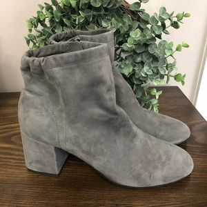 Eileen Fisher Hollis Suede Booties Gray Size 9